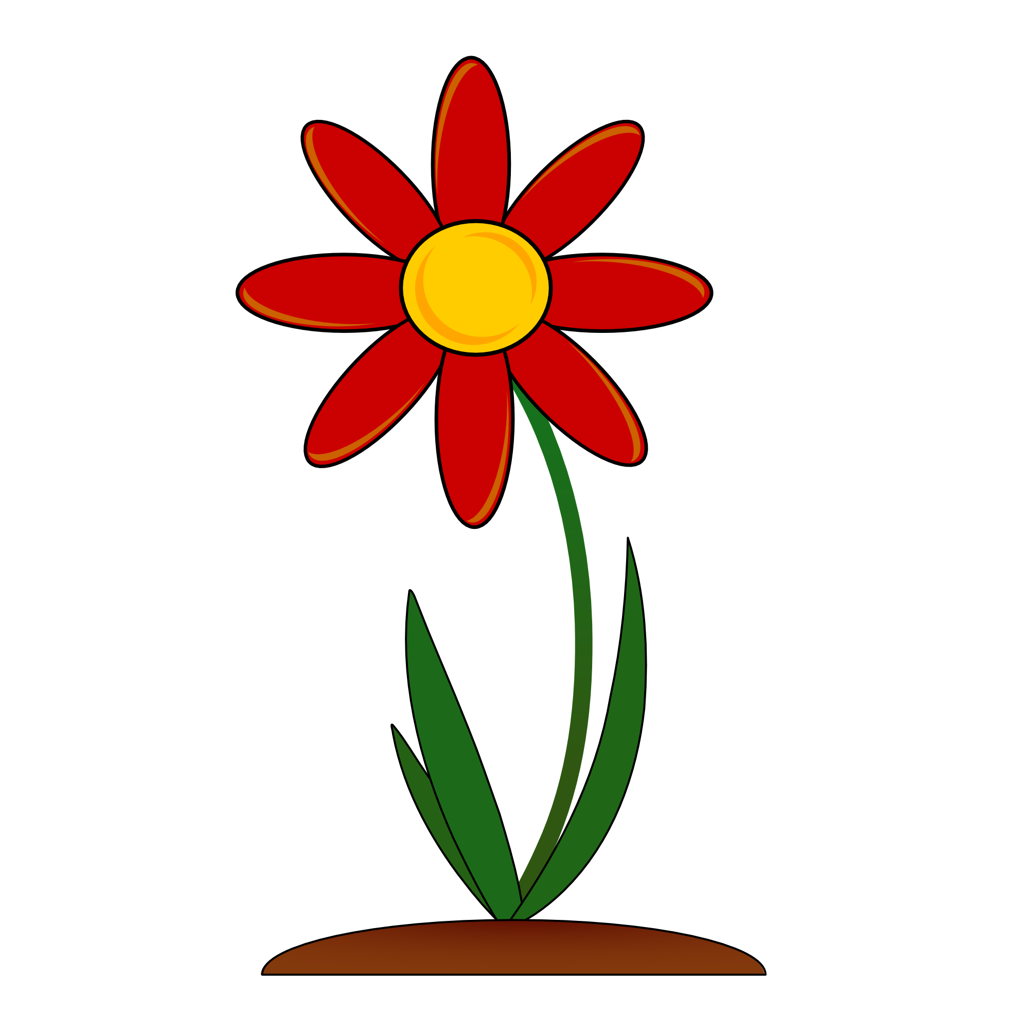 Growing flower clipart svg Orange Flower Clipart | Free Download Clip Art | Free Clip Art ... svg