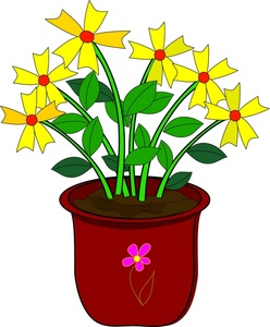 Clipart plants and flowers picture download Flower Potted Plant Clipart - Clipart Kid picture download