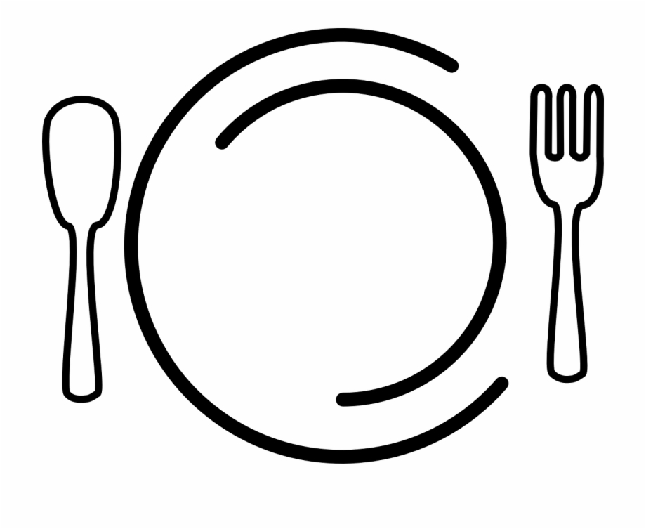 Clipart plate food jpg freeuse library Dishes Plate Fork Spoon Food Png Image - Meal Clipart Free PNG ... jpg freeuse library