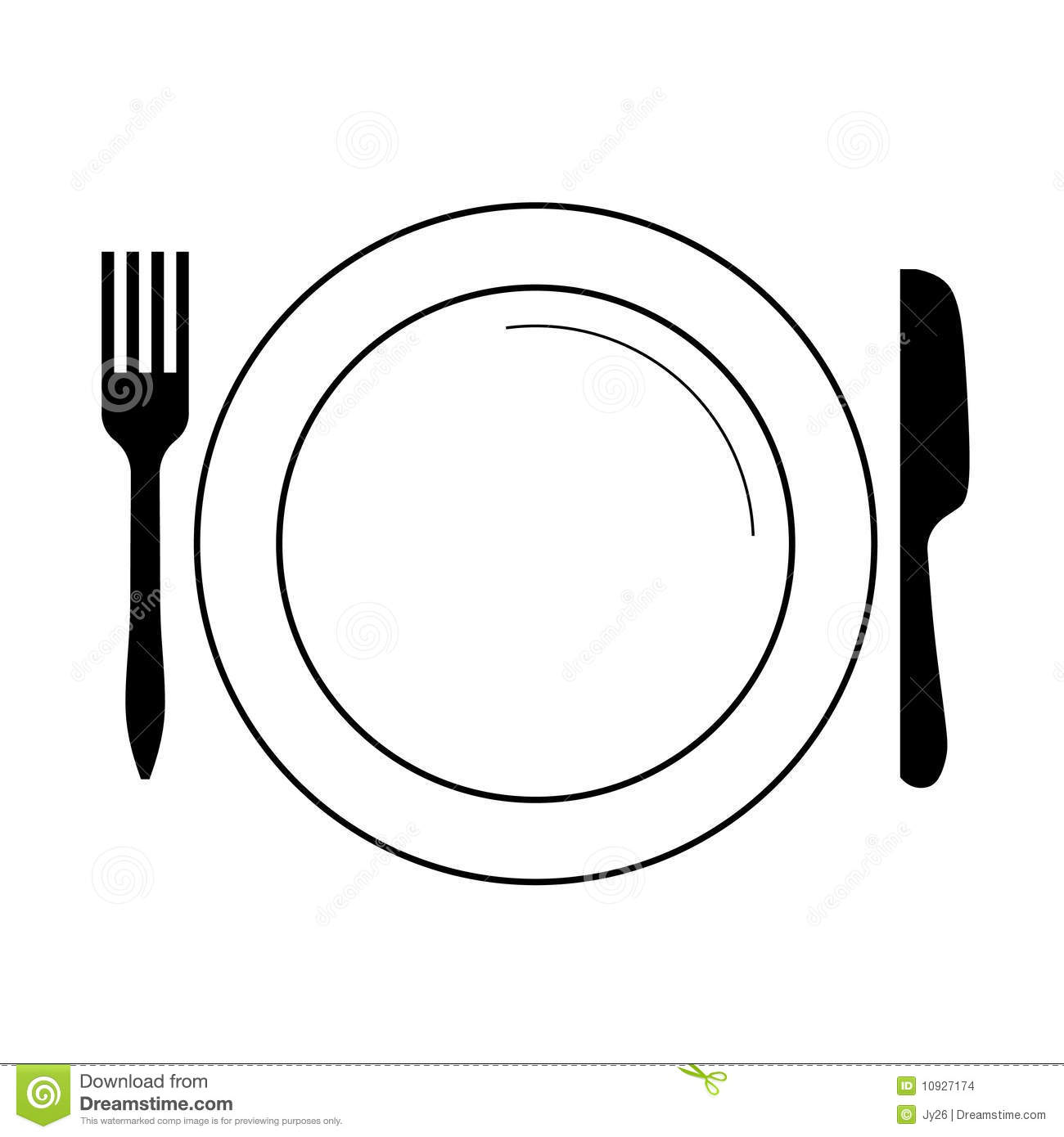 Plate knife and fork clipart banner transparent library 13 Plate Fork Vector Images - Dinner Plate Fork Knife Clip Art ... banner transparent library