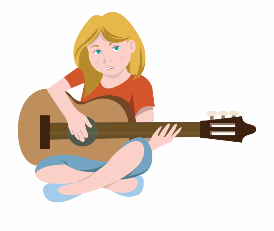 Guitar playing clipart banner black and white stock Acoustic Guitar Clipart Comic - Playing Guitar Clip Art Free PNG ... banner black and white stock