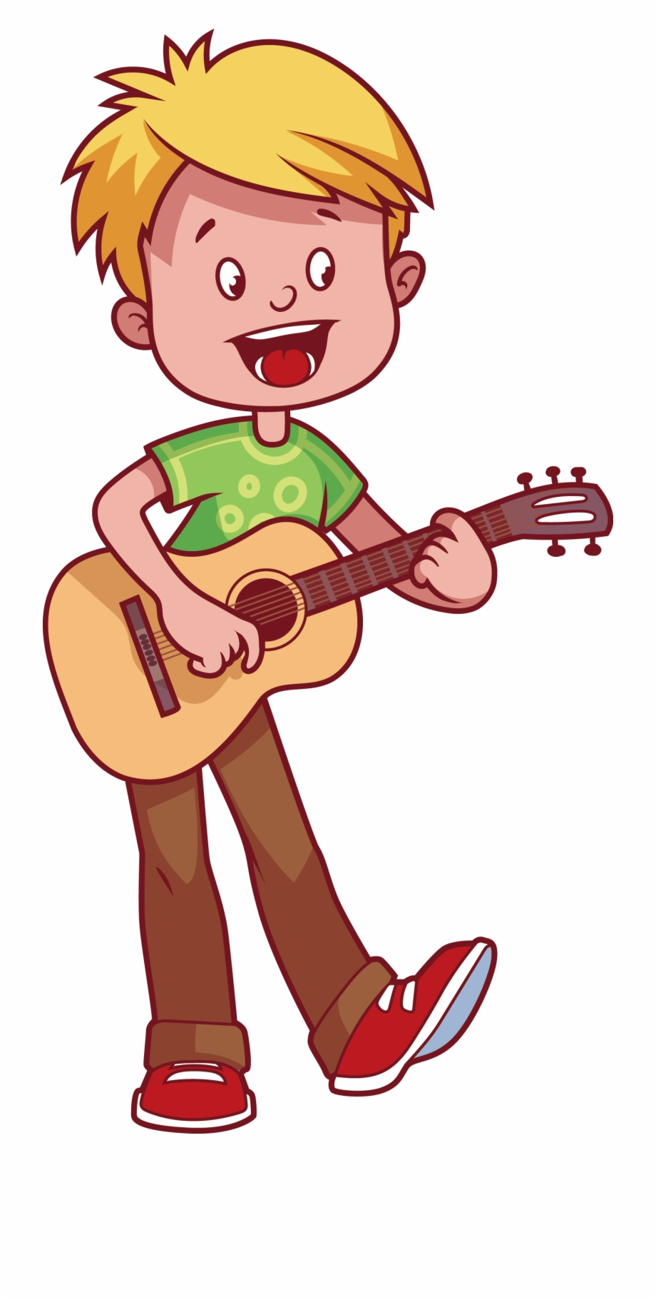 Guitar playing clipart png free library Boy Playing Guitar Clipart - Draw A Playing Guitar Free PNG Images ... png free library