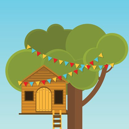 Clipart playhouse clip art royalty free download Tree House Children\'s Playhouse ON The premium clipart - ClipartLogo.com clip art royalty free download