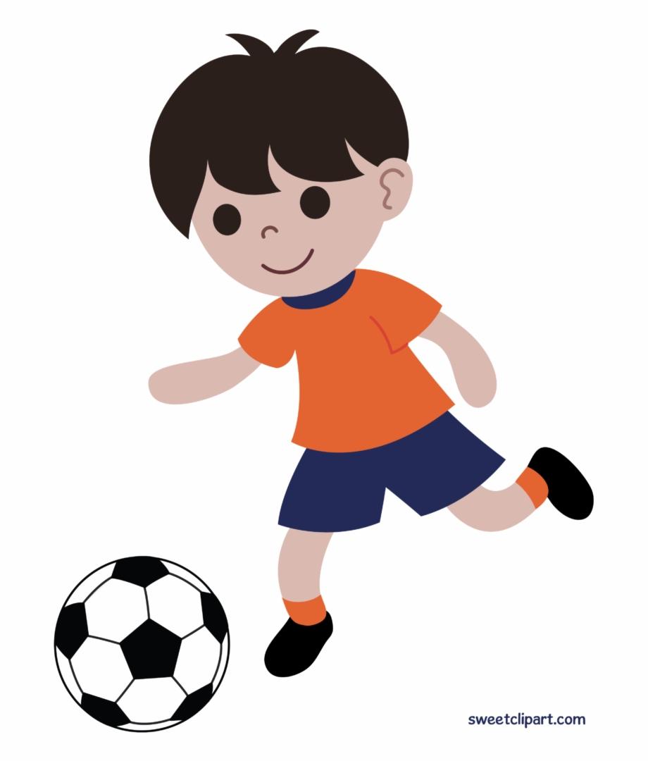 Clipart player vector library stock Boy Playing Soccer Futbol Clipart Clip Art - Boy Playing Football ... vector library stock