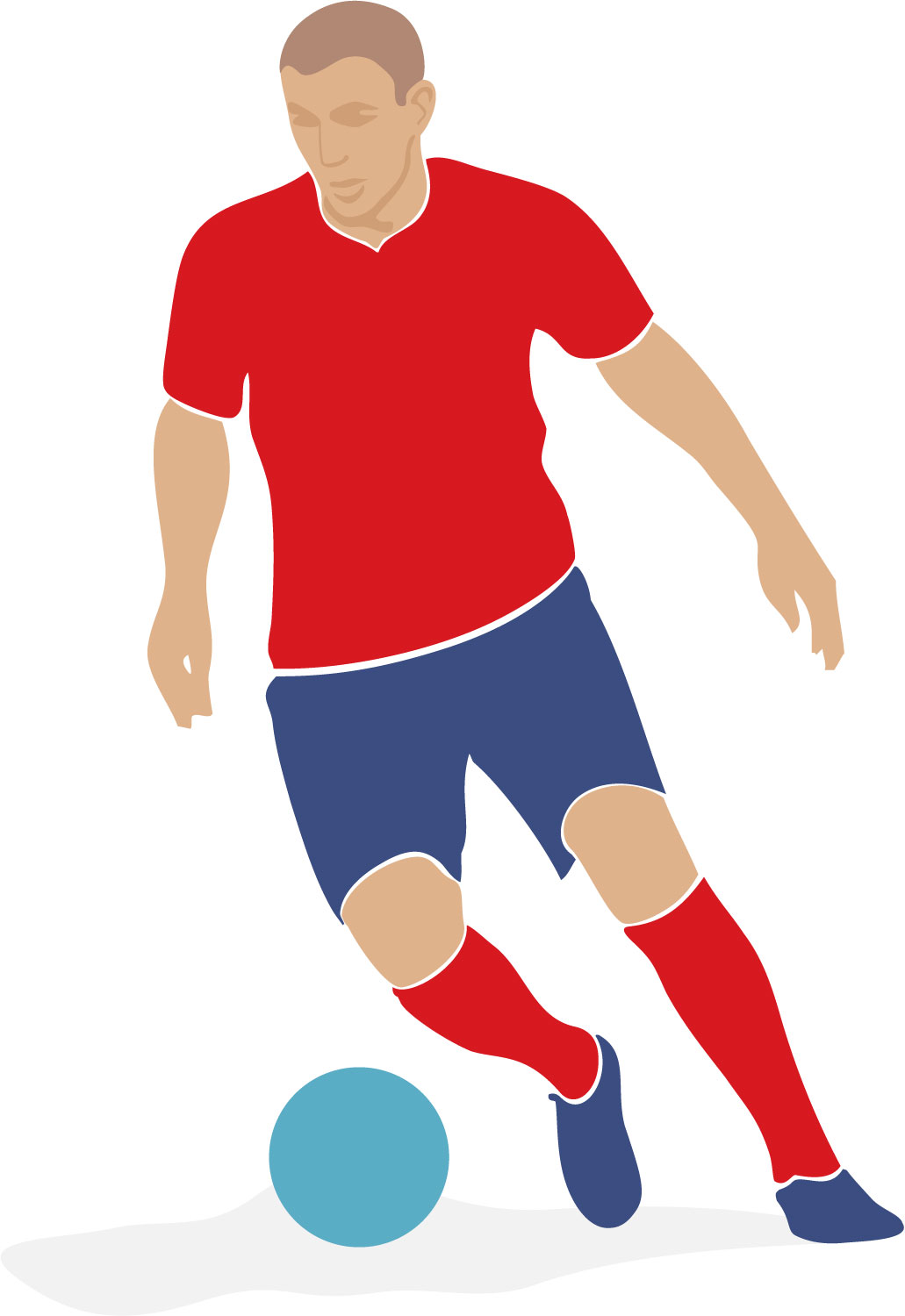 Clipart player image black and white Free Soccer Player Cliparts, Download Free Clip Art, Free Clip Art ... image black and white