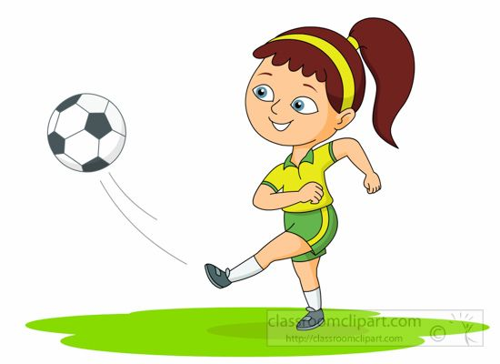 Kicking ball clipart clip art library Girl Playing Soccer Clipart | Free download best Girl Playing Soccer ... clip art library