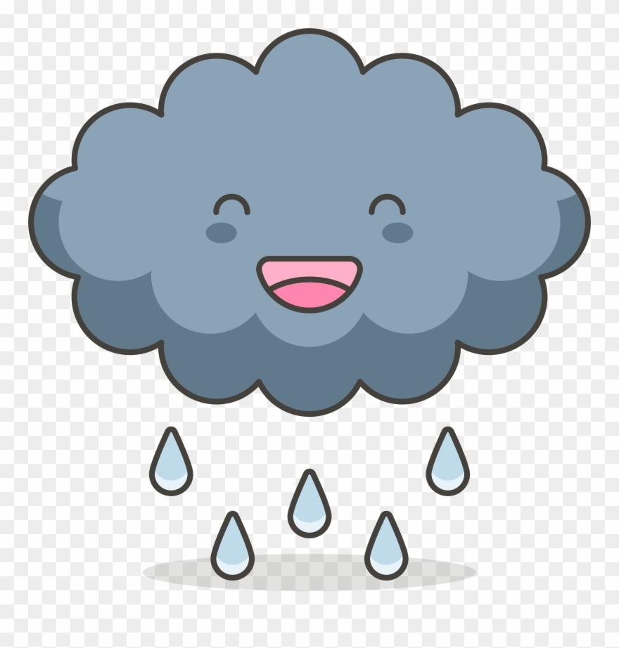 Clipart pluie clip freeuse Cloud Clip Art Black Of Cartoon Smiles - Nuage Pluie - Png Download ... clip freeuse