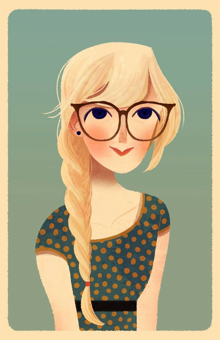 Clipart png blonde little girl with glasses clip black and white Cartoon Girls With Glasses Group with 77+ items clip black and white