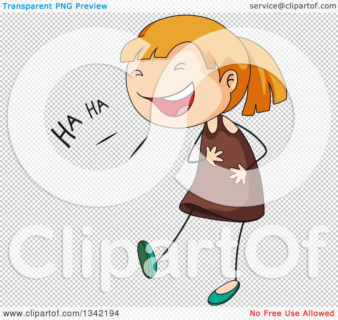 Clipart png girl laughing. Of a cartoon white