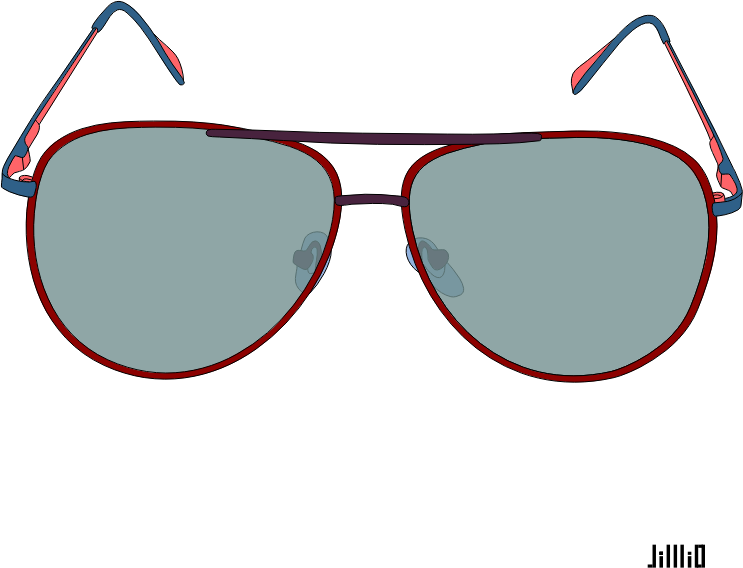 Color Frame Sunglasses Clipart - 3522 - TransparentPNG image library library