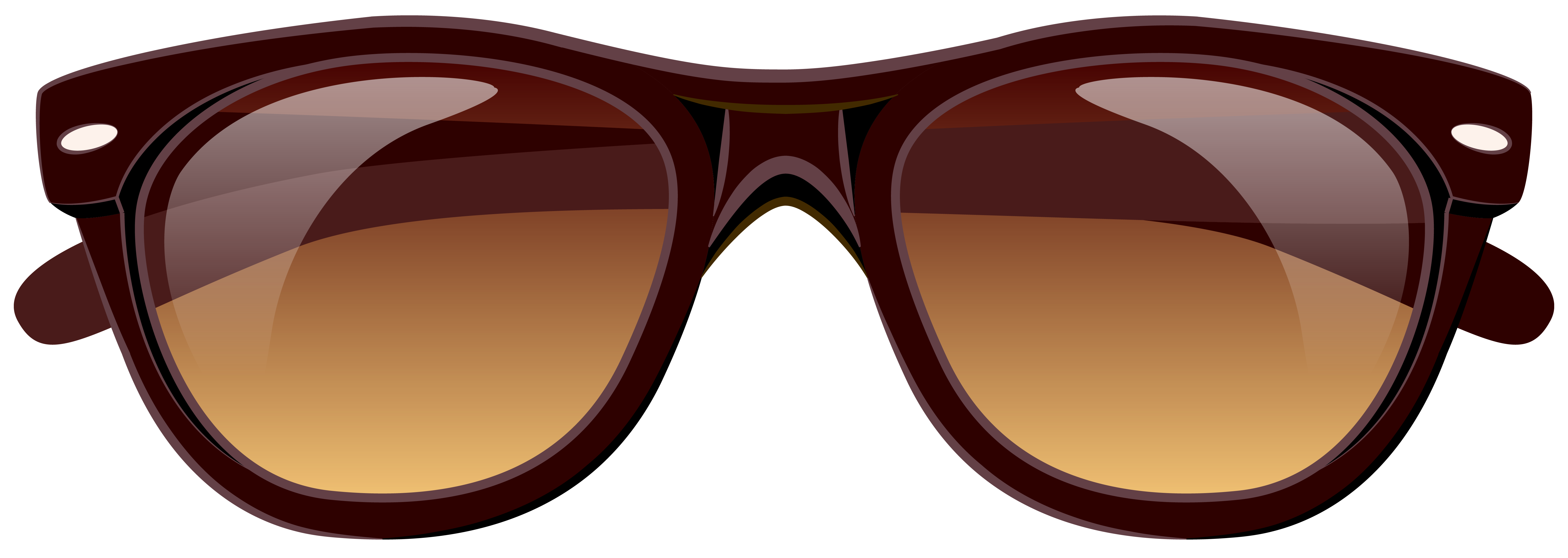 Free sun glasses clipart image black and white download Brown Sunglasses PNG Clipart Picture | Gallery Yopriceville - High ... image black and white download