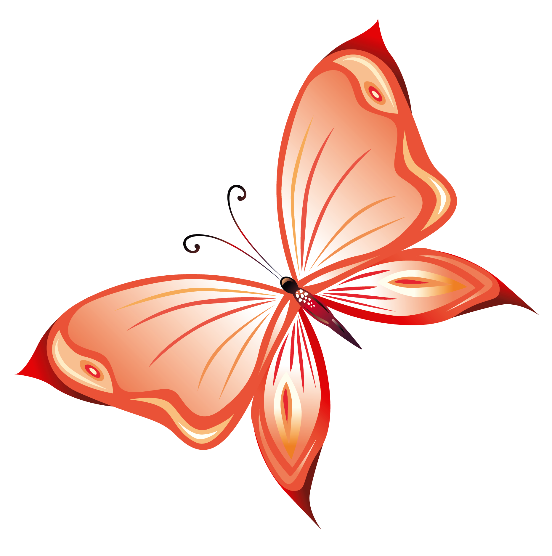 Clipart png transparent jpg freeuse library Transparent Red Butterfly PNG Clipart jpg freeuse library