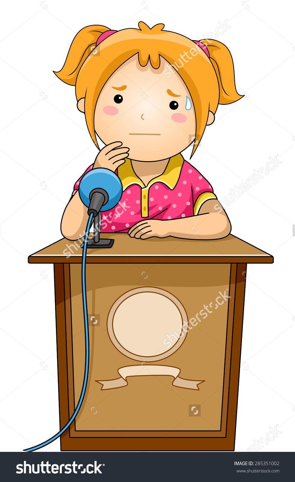 Clipart podium gratuit clip art library library Girl behind podium clipart - ClipartFox clip art library library