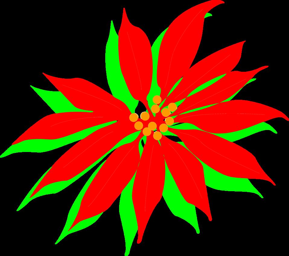 Clipart poinsettia flower jpg freeuse stock Poinsettia | Free Stock Photo | Illustration of a red poinsettia ... jpg freeuse stock