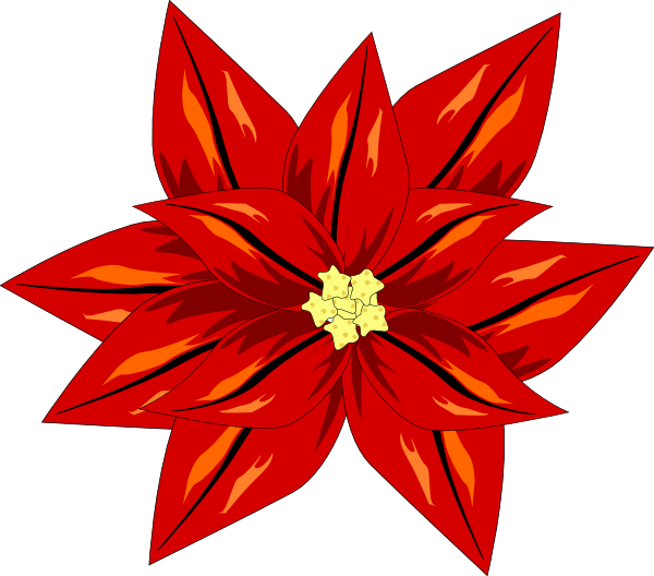 Clipart poinsettia flower clipart Poinsettia Clip Art at Clker.com - vector clip art online, royalty ... clipart