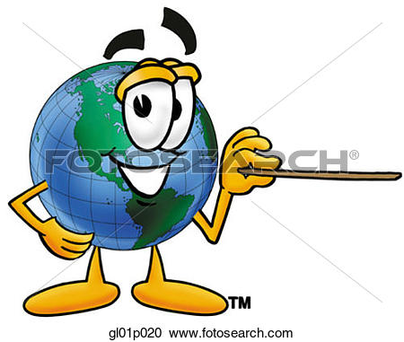 Clipart pointer. Of globe man with
