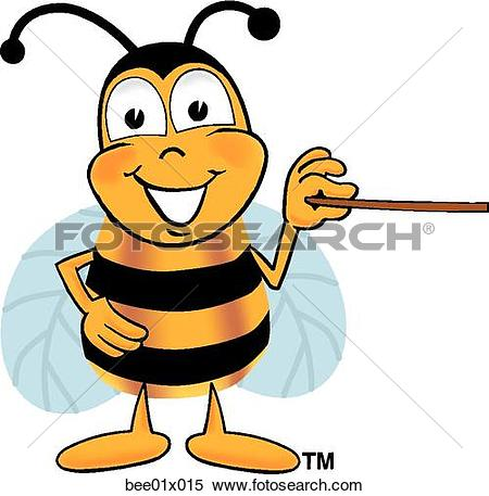 Clipart pointer. Of bee with x