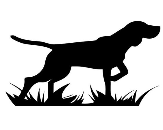 Hunting decal geese sticker. Clipart pointer dog