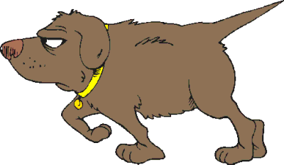 Dogs cartoon clip art. Clipart pointer dog