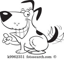 Clipart pointer dog. Vector graphics eps clip