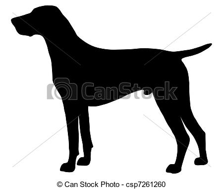 Clipart pointer dog. Vector royalty free clip