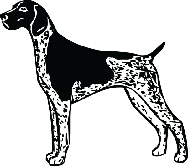 Clipart pointer dog clip library library German Shorthaired Pointer Dog GSP Art For Engraved Products clip library library
