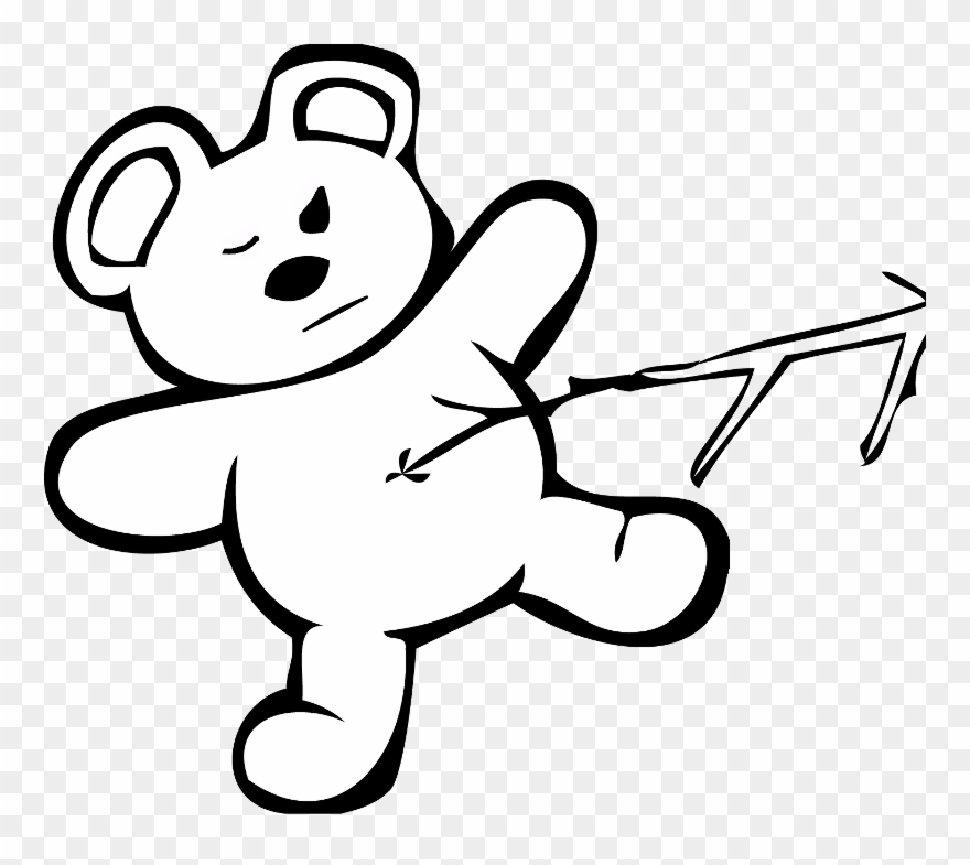 Clipart poke jpg black and white download April - Poke Bear With Stick Clipart (#138234) - PinClipart jpg black and white download