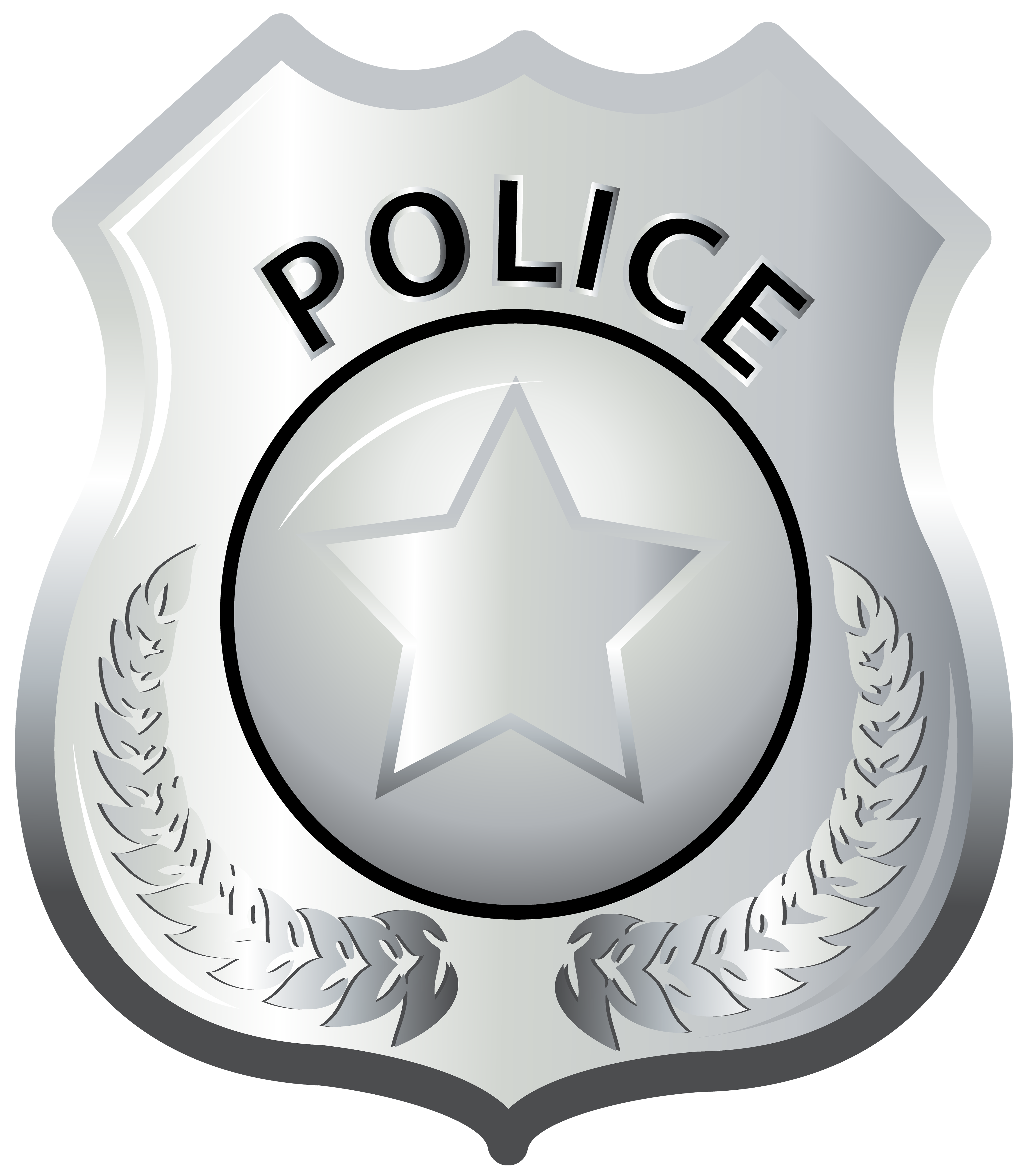 Clipart police badge vector transparent stock Police Badge PNG Clip Art | Gallery Yopriceville - High-Quality ... vector transparent stock