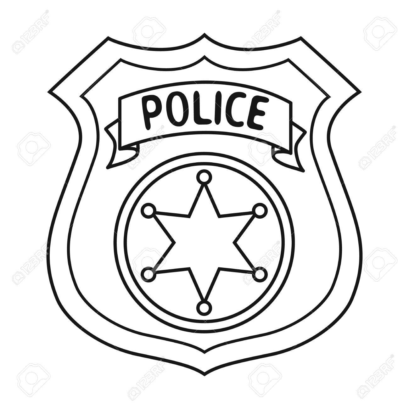 Police badge clipart black and white clip transparent library Sheriff Badge Clipart | Free download best Sheriff Badge Clipart on ... clip transparent library