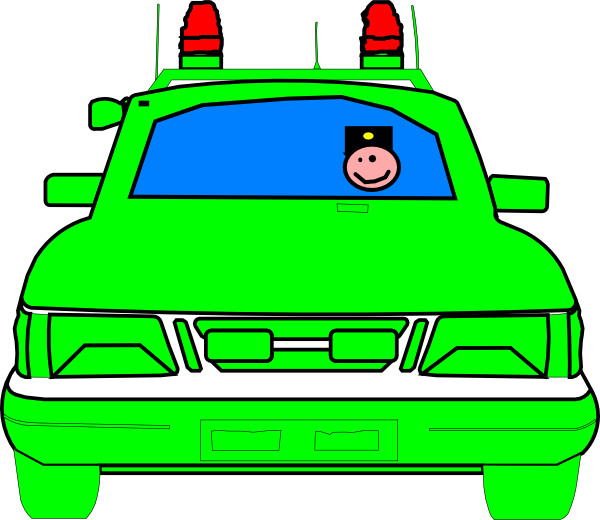 Car clipart green png freeuse download Police Car Clip Art at Clker.com - vector clip art online, royalty ... png freeuse download