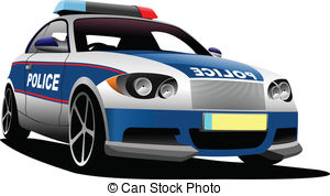 Stock illustrations clip art. Clipart police car