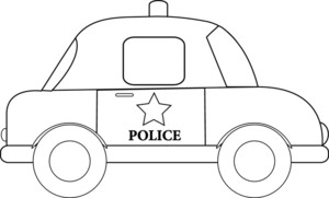 Clipart police car outline clip art transparent library Clipart police car outline - ClipartFest clip art transparent library