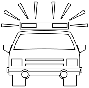 Clipart police car outline picture freeuse Police Car Outline Clip Art at Clker.com - vector clip art online ... picture freeuse