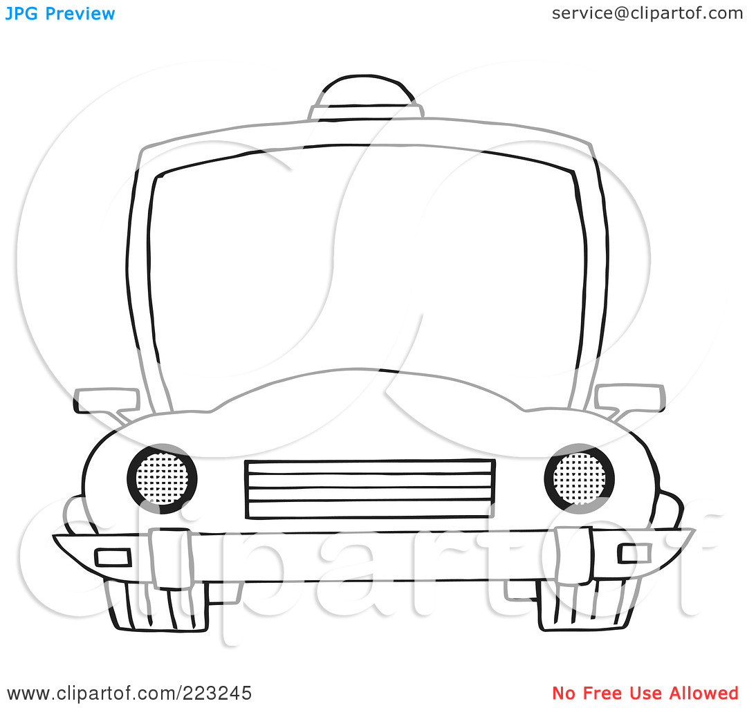 Clipart police car outline svg free download Royalty-Free (RF) Clipart Illustration of a Coloring Page Outline ... svg free download