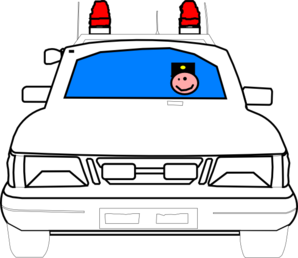 Clipart police car outline image library download Police car clip art at vector clip art - Clipartix image library download