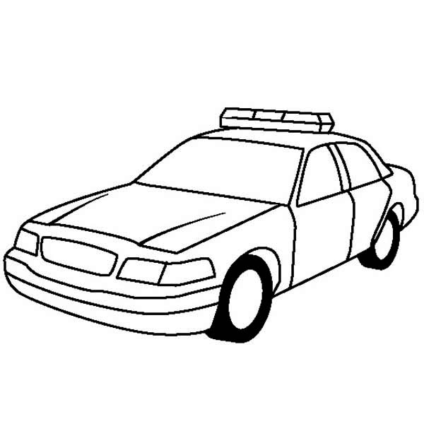 Clipart police car outline royalty free library Police car clip art clipart - Clipartix royalty free library