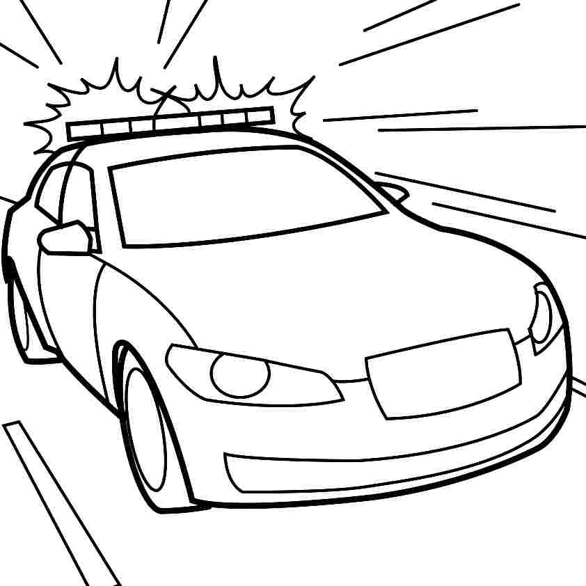 Clipart police car outline vector black and white stock Police Cruiser Outline - ClipArt Best vector black and white stock