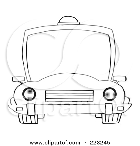 Clipart police car outline black and white Royalty-Free (RF) Clipart Illustration of a Coloring Page Outline ... black and white