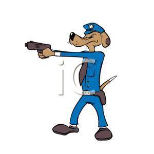 Clipart police dog jpg library stock Police Dog with His Gun Drawn - Clipart jpg library stock