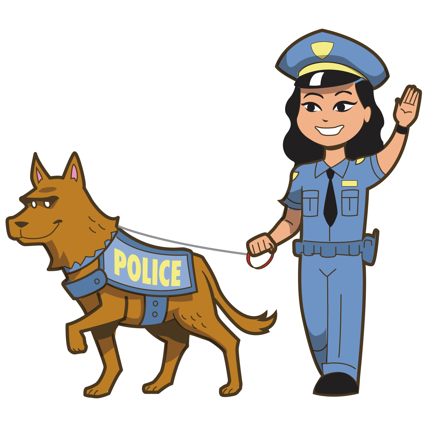 Clipart police dog clip library library Police officer Royalty-free Clip art - Police and police dogs 1500 ... clip library library