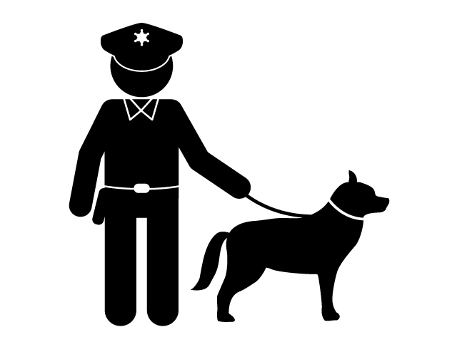 Clipart police dog picture transparent download Police dog | Sightseeing | incident | Pictogram | Free material picture transparent download