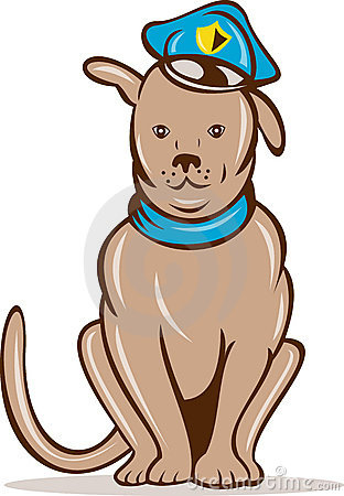 Clipart police dog image free library Cartoon Police Dog Stock Photos, Images, & Pictures - 167 Images image free library