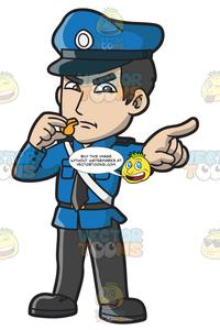 Clipart police officers picture free download An Angry Police Officer With A Whistle picture free download