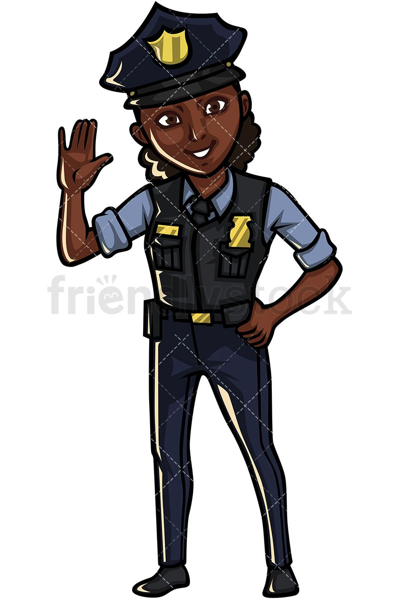 Clipart police officers banner library download Black Policewoman | Art in 2019 | Vector clipart, Free vector ... banner library download