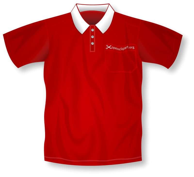 Jersey polos clipart transparent download Free Clipart: Red Polo Shirt | Merlin2525 transparent download