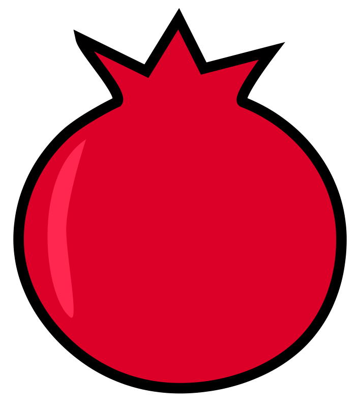 Clipart pomegranate clipart transparent library Free Clipart: Pomegranate | darkness3560 clipart transparent library