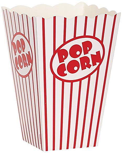 Clipart popcorn at a picnic table clipart royalty free Movie Theater Red and White Striped Popcorn Boxes, 10ct clipart royalty free