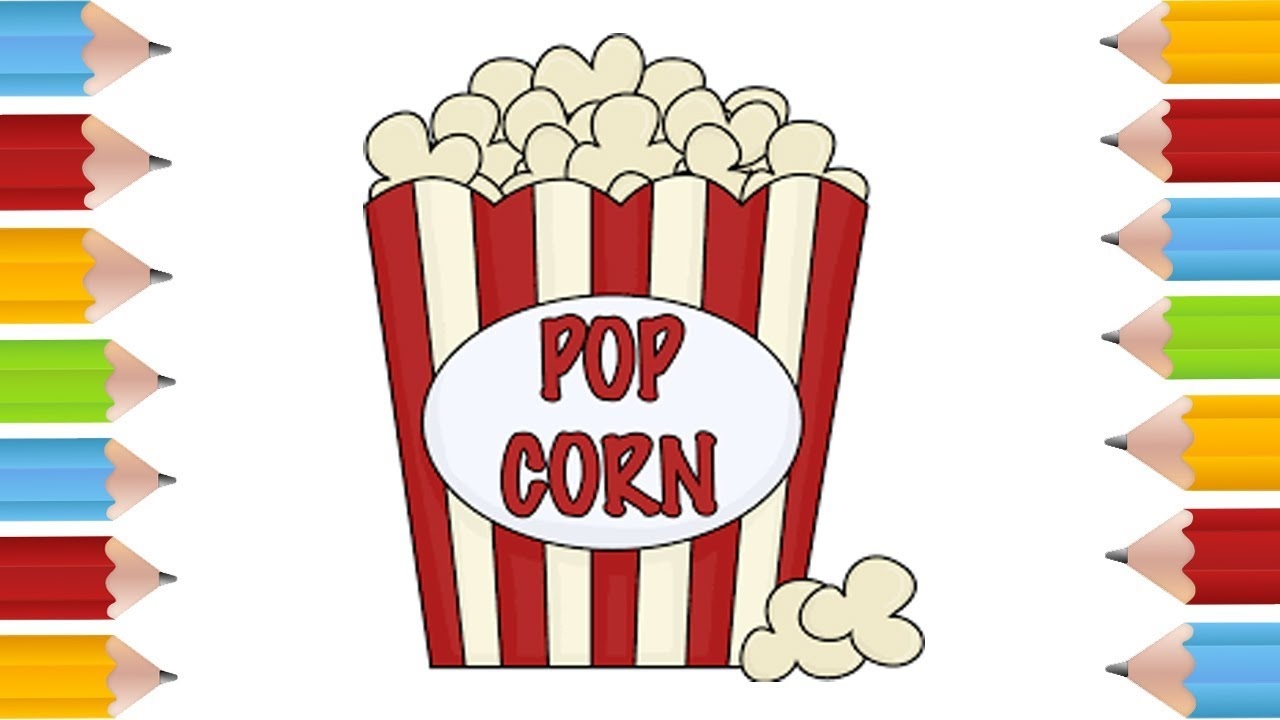 Clipart popcorn at a picnic table graphic transparent download How To Draw Popcorn - Making-The-Web.com graphic transparent download