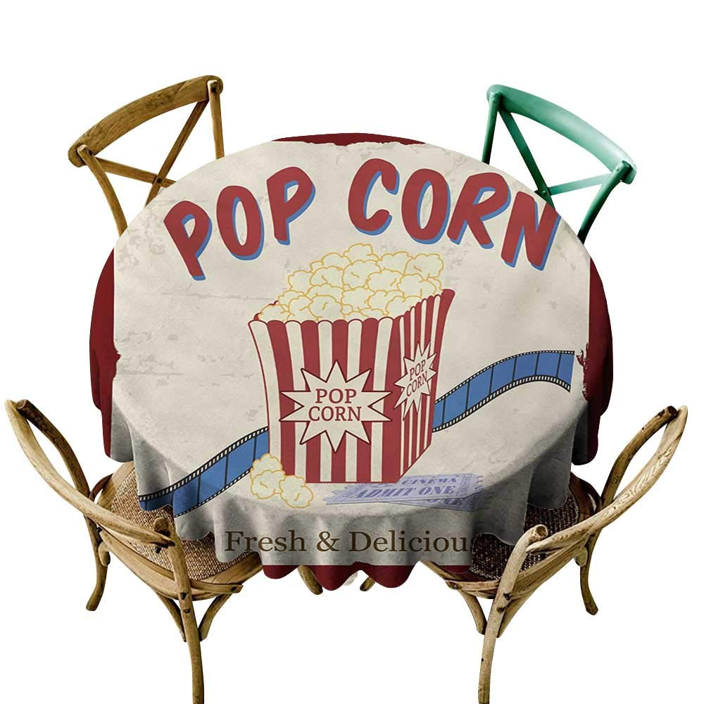 Clipart popcorn at a picnic table clipart library Amazon.com: Wendell Joshua Picnic Tablecloth 60 inch Movie Theater ... clipart library