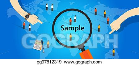 Clipart population statistics clip transparent download EPS Vector - Sample from population statistics research survey ... clip transparent download